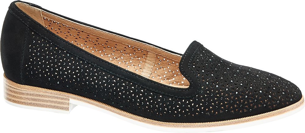 Cut Out Läderloafer