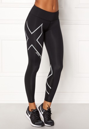 2XU Hyoptik Mid-Rise Tights Black/silver L