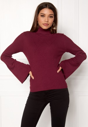 VERO MODA Nor Walk Glory LS Blouse Zinfandel XL