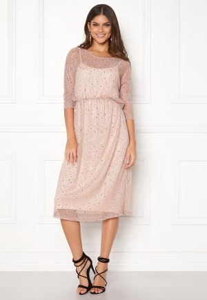 VILA Kyle Long 3/4 Dress Peach Blush L