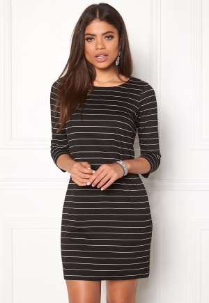VILA Tinny New Dress Black/White XL