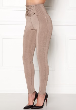 WOW COUTURE Adora Bandage Pants Almond L
