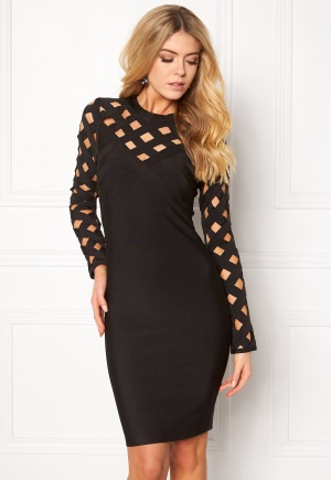 WOW COUTURE Caged Sweatheart Dress Black L