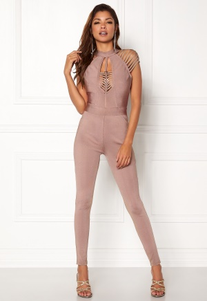 WOW COUTURE Gertrude Bandage Jumpsuit Almond L
