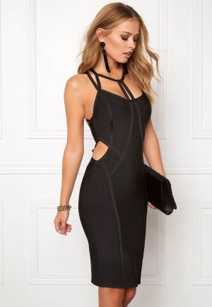 WOW COUTURE Strappy Bandage Shaping Black L