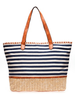 ALPINI Shopper, Stripe Blå One size