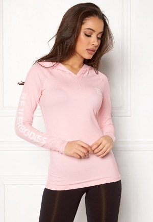 Better Bodies Performance LS Hood Pink Print S