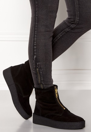 Billi Bi Black Suede/Gold Boots Black 36