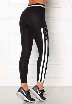 BUBBLEROOM SPORT Comfy sport tights Black / White / Text M