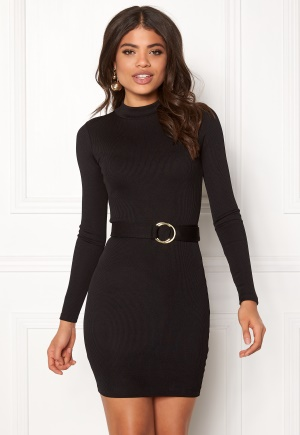 BUBBLEROOM Vanessa rib dress Black XS