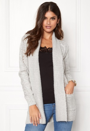 New Look Cable Cardigan Pale Grey L (UK14)