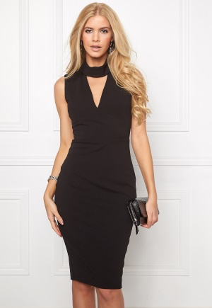 Goddiva Cutout High Neck Midi Black XS (UK8)