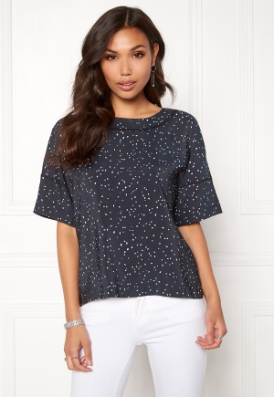DAGMAR Sally Top Navy Dot Print 36