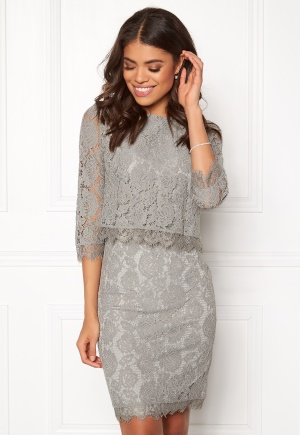 DRY LAKE Malou Dress Light Grey XS