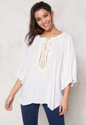 F.A.V Silky Lace Tunic White One size