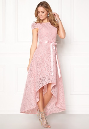 Goddiva Asymmetric Lace Dress Pink XS (UK8)