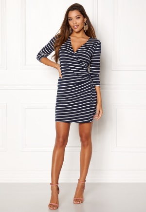 Happy Holly Alena dress Navy / Striped 32/34L