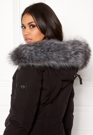 Hollies Collar Fake Fur Silver One size