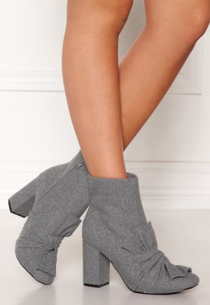 LOST INK Daisy Bow Ankel Boots Grey 37