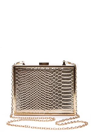 New Look Britney Box Clutch Gold One size