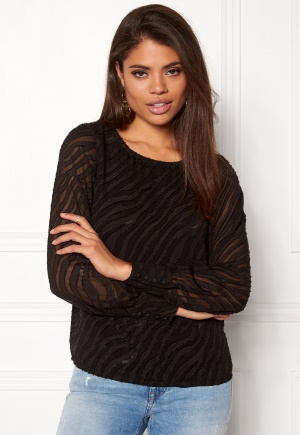 OBJECT Gabrielle L/S Top Black 34