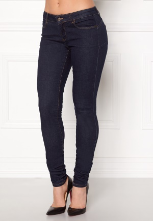 OBJECT Skinny Sally Rinse Jeans Dark Blue Denim 27/34