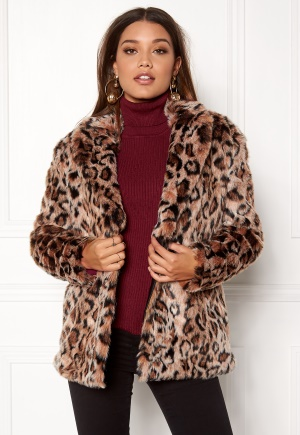 ONLY Amy Fur Coat Silver Mink L