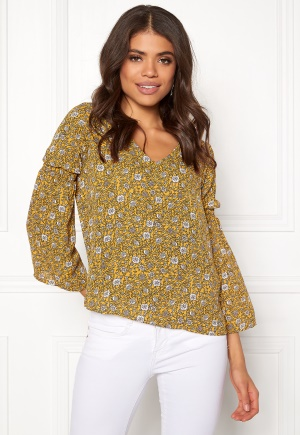 Jacqueline de Yong Base New L/S Smock Blouse Spicy Mustard 34