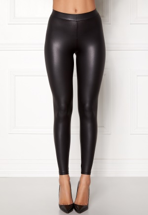 Pieces New Shiny Leggings Black S/M