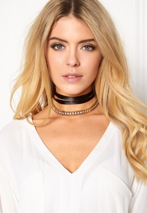 Pixie & Diamond Ladies Choker Black/Gold One size