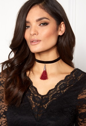 Pixie & Diamond Ladies Necklace Red Black One size