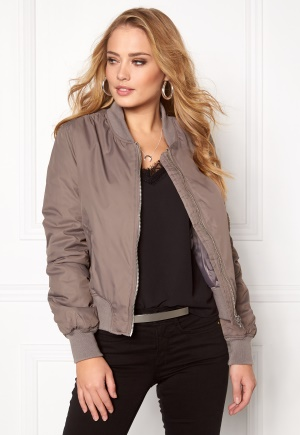 Rut & Circle Kate Bomber Jacket Lt Taupe 38