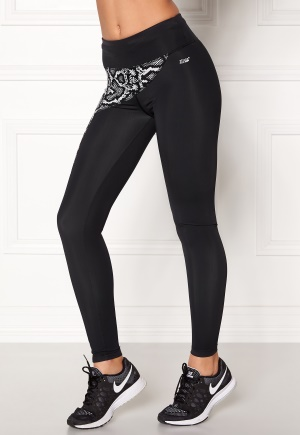 Shape Me Up Elle Snake Tights Black Solid M