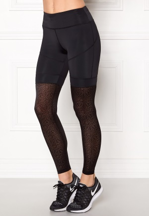 Shape Me Up Leopard Mesh Tights Black/Leopard Mesh XS