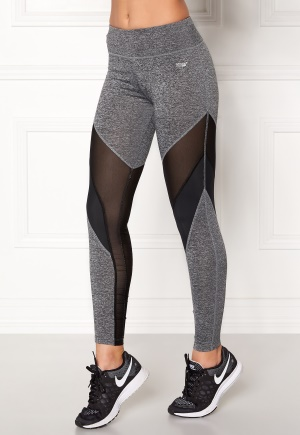 Shape Me Up Lo Mesh Tights Grey Melange / Black L
