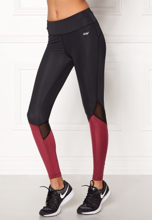 Shape Me Up Stella Tights Black/Burgundy L