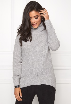 SOAKED IN LUXURY Pearl Pullover Light Grey Melange L