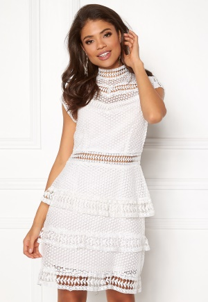 Y.A.S Alberte Capsleeve Lace Dress Star White L