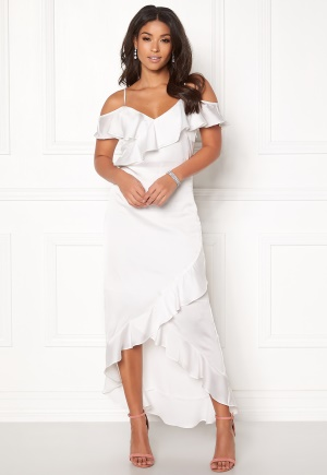 Y.A.S Fielle Off Shoulder Dress Star White L