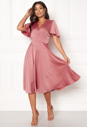 Y.A.S Valley S/S Dress Rose Smoke L